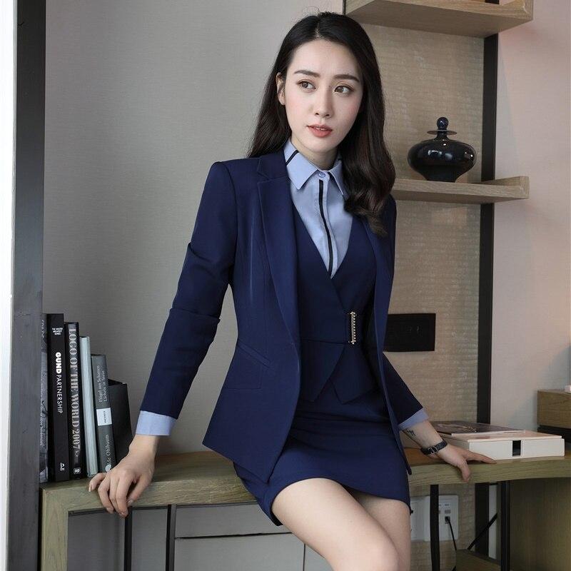 Formal Oficina señora Trajes de vestir para las mujeres de negocios Trajes  red blazer y chaqueta Sets elegante en Trajes de vestir de La ropa de las  mujeres ... 85d699021437