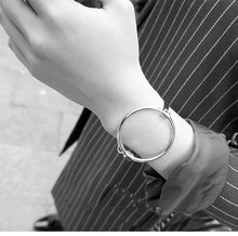 2017 new fashion accessories jewelry simple copper round bracelet charm female lover gift