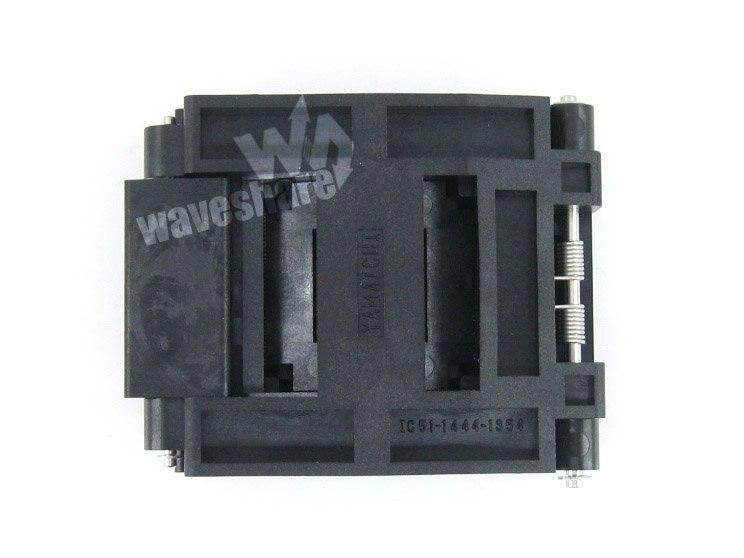QFP144 TQFP144 FQFP144 PQFP144 IC51-1444-1354-7 Yamaichi QFP IC Test Burn-in Socket Adaptateur de Programmation à 0.5mm de Hauteur