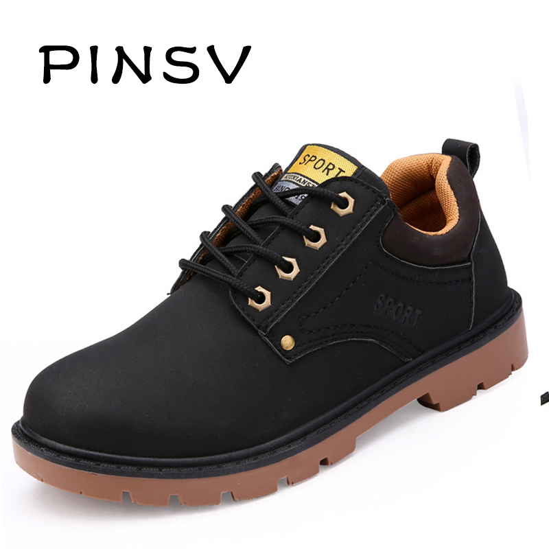New 2015 Men Boots Black PU Leather Ankle Boots Mens ...