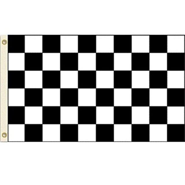 Racing Checkered Flag >> Black White Checkered Flag Banner F1 Formula Car Motor Racing Party