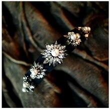 Women New Gem Brand Hotsale  Shourouk Luxury Statement  Quality Crystal Hair Dress Women Party Hairband Jewelry H013