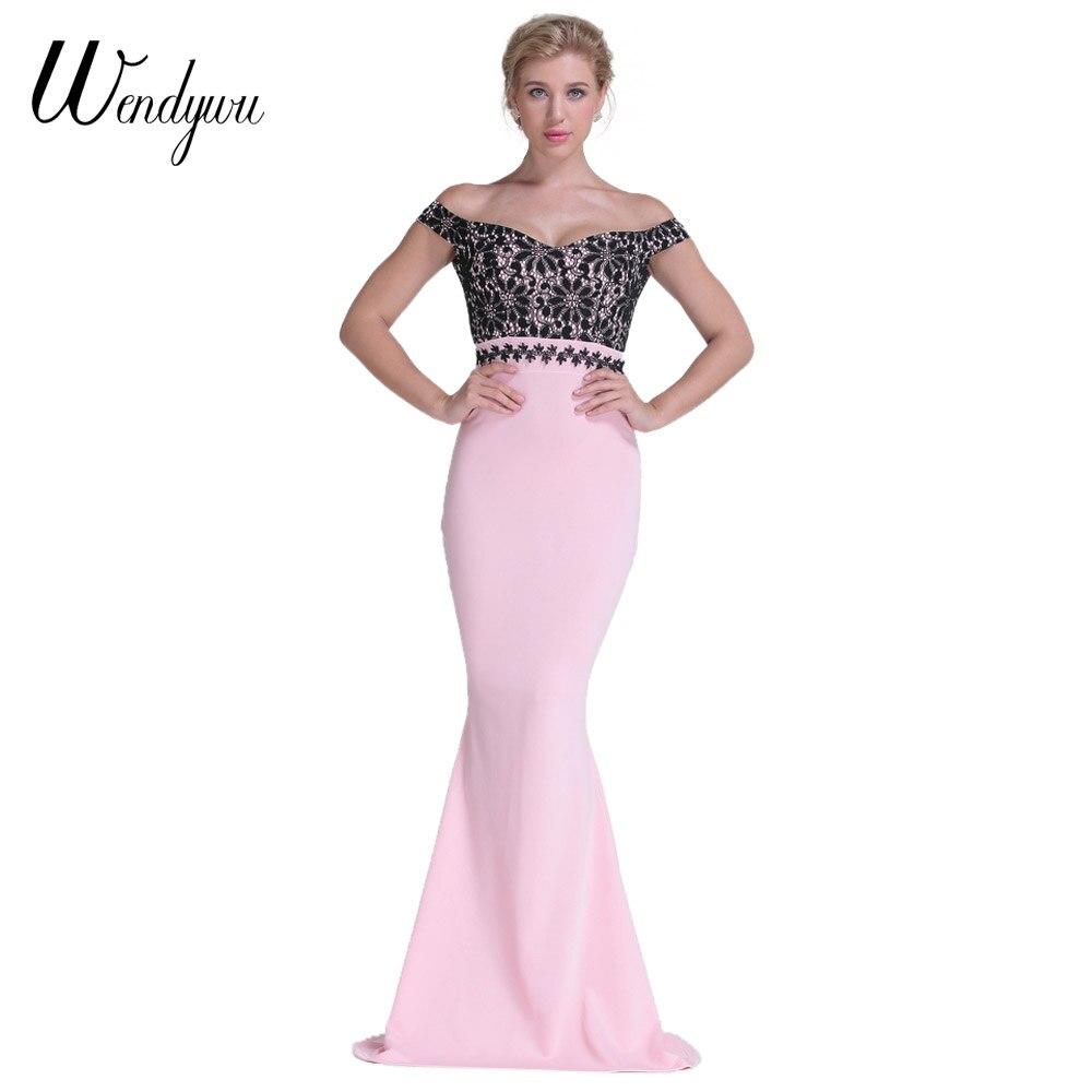 Promoción de Rosa Largo Del Hombro Vestido De Fiesta - Compra Rosa ...