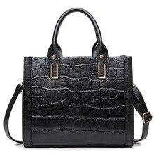 HOT SALE women real leather bag alligator pattern genuine leather shoulder bag large capacity bolsa feminina 0-profit sales