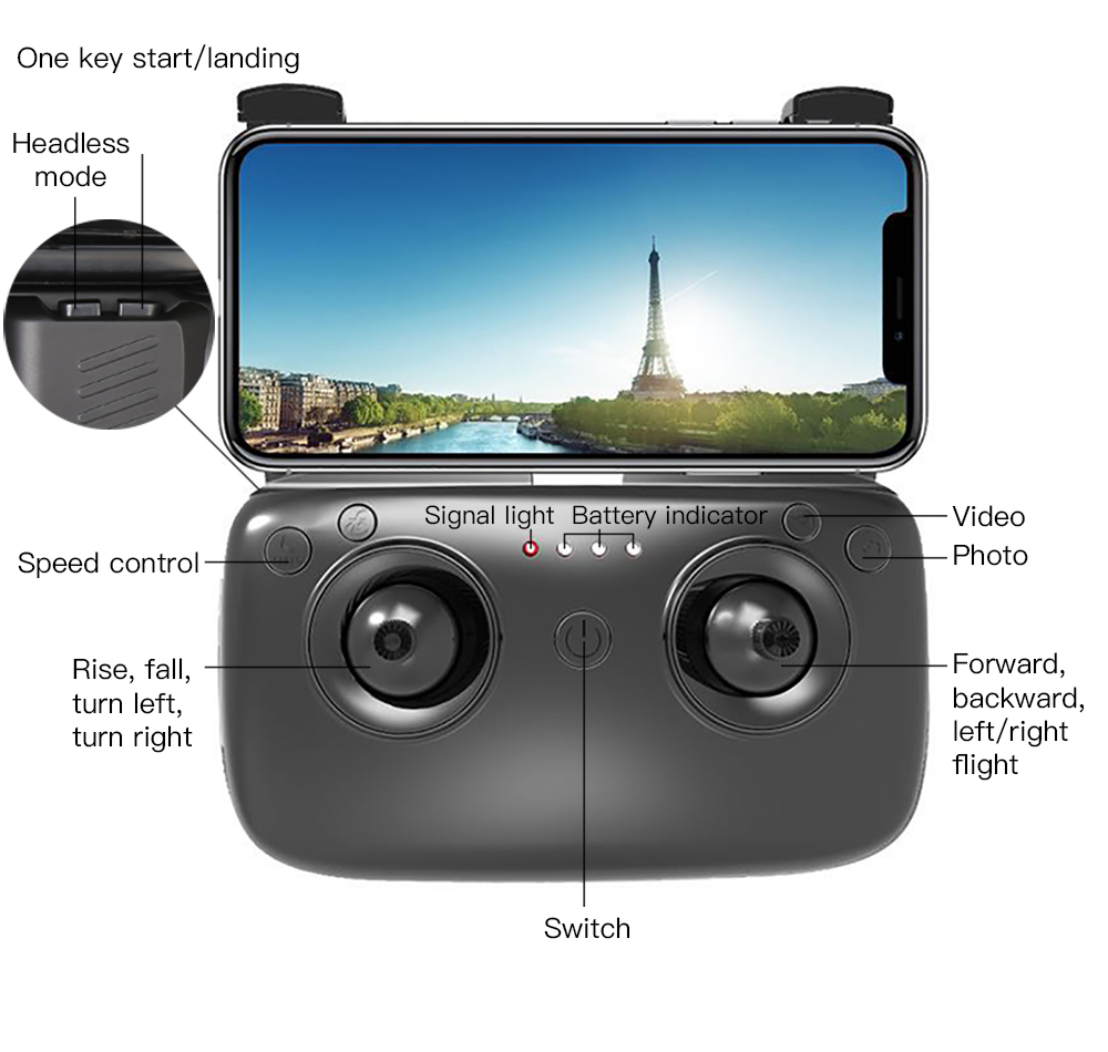 Image 2 - SG900 4K drone camera dual HD 2.4G remote control drone RC four axis aircraft app folding Portable video photo real time camera-in RC Airplanes from Toys & Hobbies