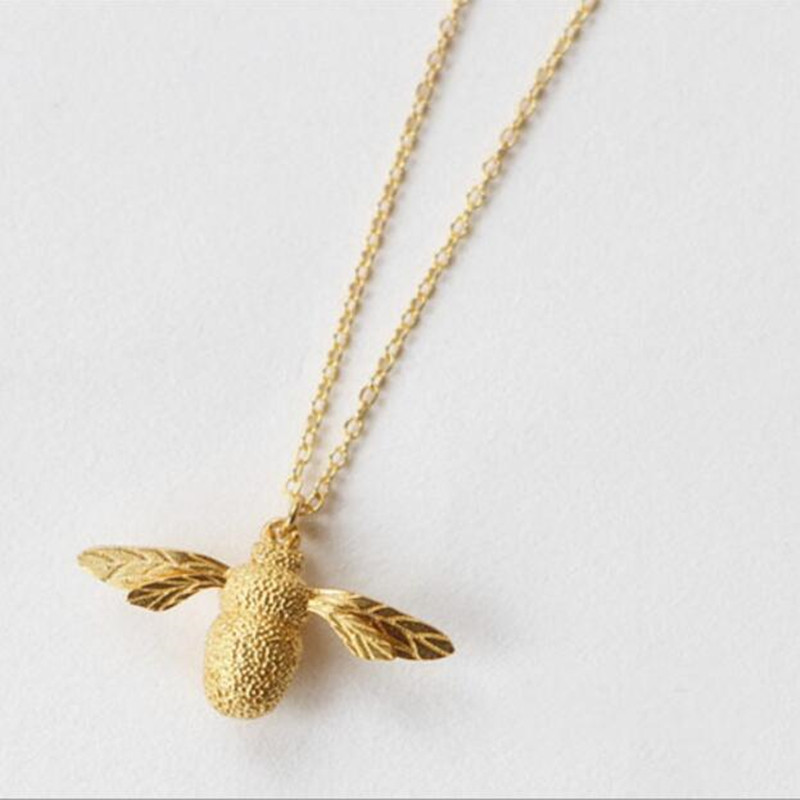 Personality High-quality 925 Sterling Silver Korean Jewelry Cute Little Bee Female Pendant Necklace H251