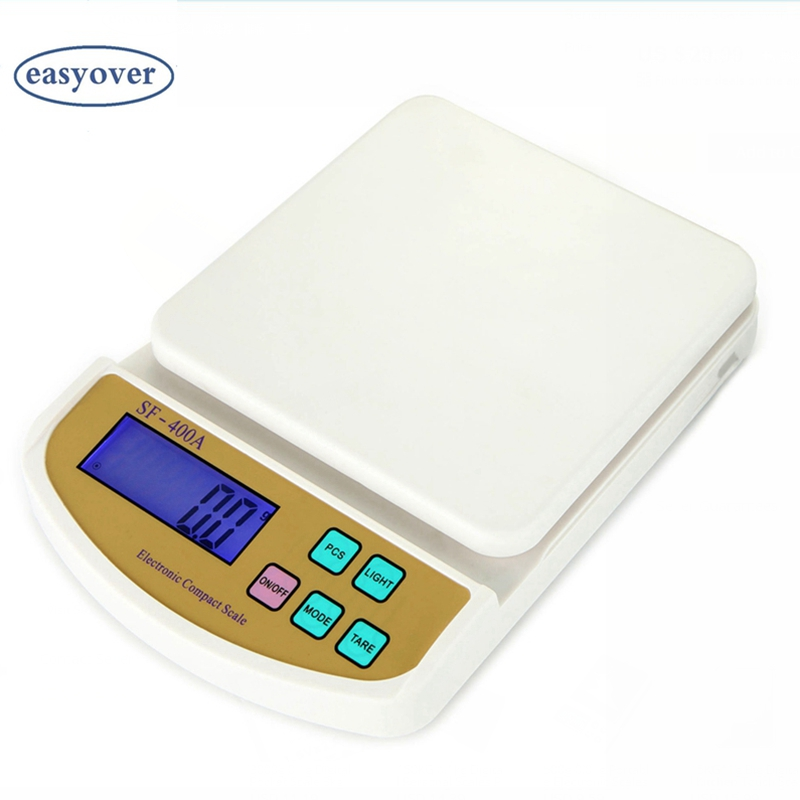 5kg 0.1g Digital Kitchen Scale Big Food Diet Lab Weight Balance LCD Electronic Bench Floor Compact Scales With Blue Backlit