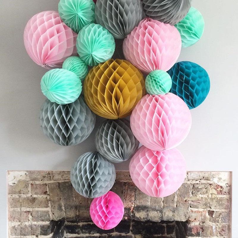 1pcs 4'' 6'' 8'' Paper Honeycomb Ball Lantern Flower Ball Wedding Party Kids Birthday Xmas DIY Decoration Baby Shower Supplies