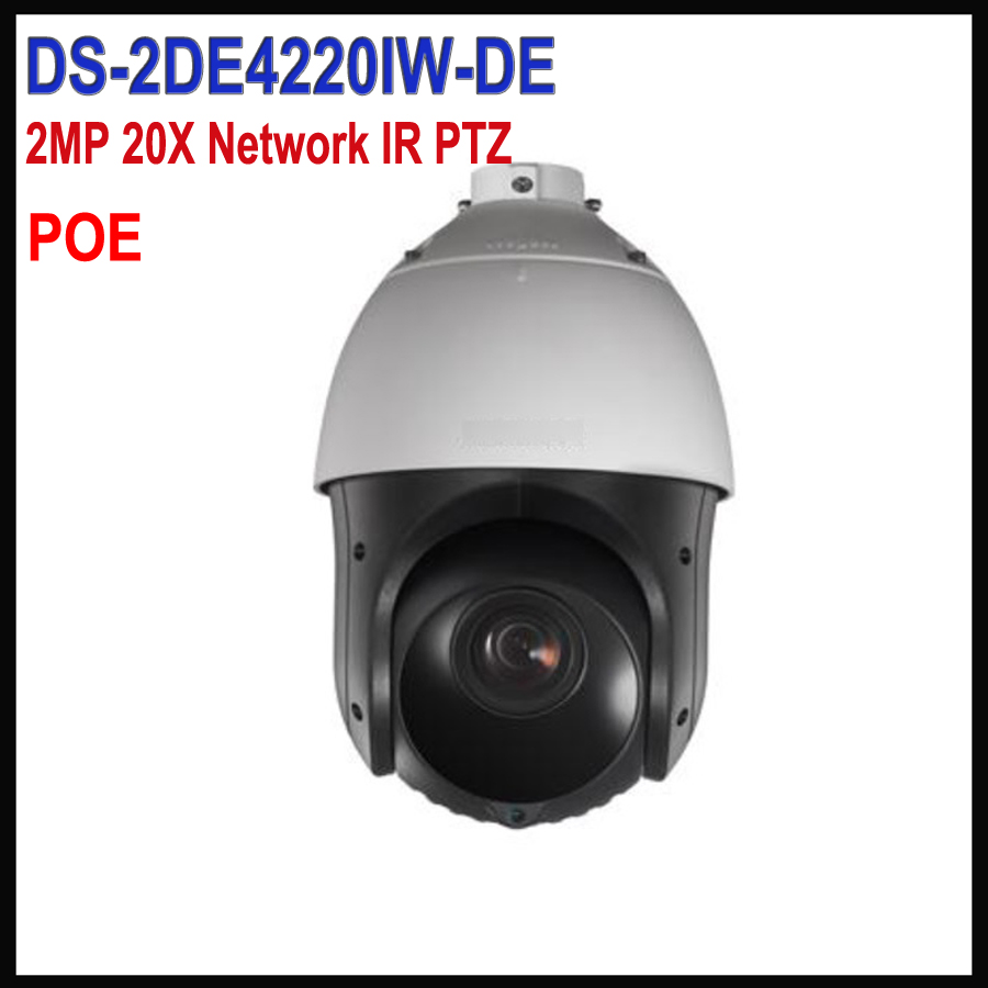 Free shipping English version Hikvision PTZ Camera IP POE 1080P DS-2DE4220IW-DE 2MP H.265 20X Network IR PTZ p2p camera ds 2cd4026fwd a english version 2mp ultra low light smart cctv ip camera poe auto back focus without lens h 264