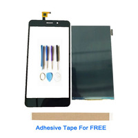 "5.5 "" For THL T9 T9 Pro LCD Display With Touch Screen Sensor Digitizer Touch Panel Lens Glass Black Color With Tools Tape
