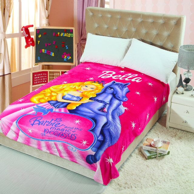 Compare Prices on Barbie Bedroom Decor  Online Shopping Buy Low   Barbie Princess Printed Blankets Throw Bedding 150 200CM Size Baby Kid  Girls Children s Bed Home. Barbie Bedroom Decor. Home Design Ideas