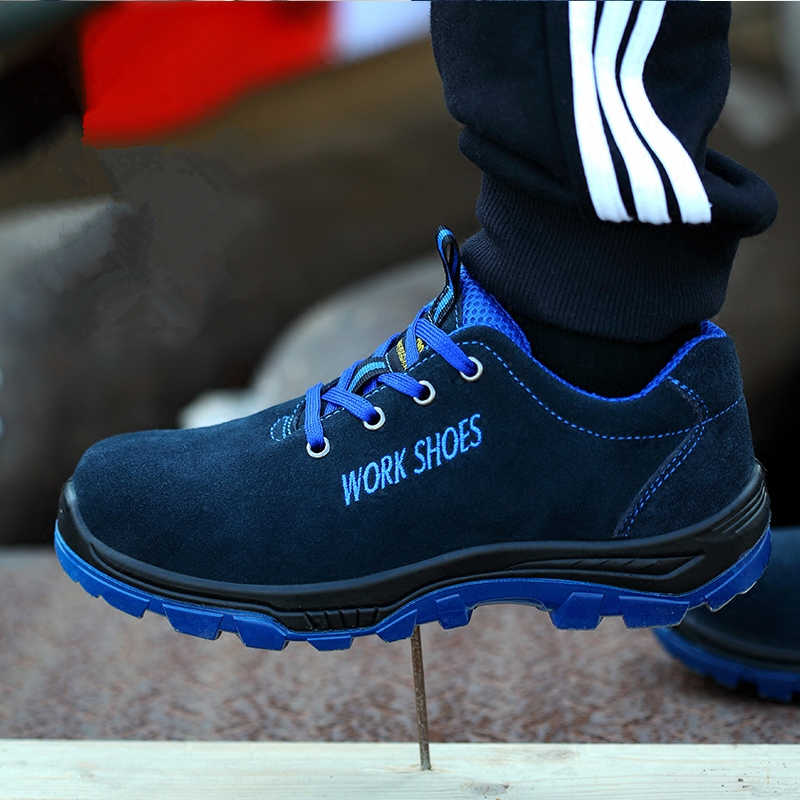 02ba774c4c172 Men Work Safety Shoes Steel Toe Warm Breathable Men's Casual Boots ...