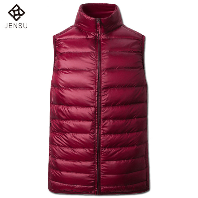 2016 Men Duck Down Vest Sleeveless Jackets and Coats Jaqueta Masculina Men's Casual Fashion Slim Fit Winter Zipper Cotton Vest