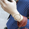 Trendy Bracelets for Women Gold Color Round Bracelets & Bangles Fashion Love Bangle pulseira feminina B06051