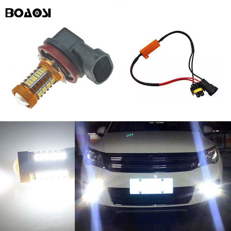 BOAOSI 1x 9006/HB4 LED canbus Fog Lights No Error For Volkswagen Golf 6 MK6 2009-2012 Scirocco 08-on T5 Transporter 2003-2016 boaosi 1x 9006 hb4 car canbus bulbs reflector mirror design fog lights no error for vw golf 6 mk6 scirocco t5 transporter