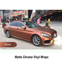 Bronze Matte Chrome Vinyl Wrap Ice Plenka Red Brown Car Sticker Foil Quality And Price Guaranteed