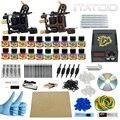 ITATOO Plumas Kit de Tatuaje Barato Set Máquina De Tatuaje Kit de Tatuaje Ametralladora de Tinta Suministros De Joyería Arma Profesional TK100013