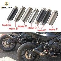 ZSDTRP 51/60mm Inlet Motorcycle Scooter Motocross Exhaust Muffler Dirt Pit Bike SC GP Racing Exhaust Muffler GSXR NINJA