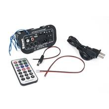 Nouvelle Voiture Bluetooth HiFi Basse Puissance AMP Stéréo 220 V Amplificateur Numérique USB TF À Distance Pour Voiture Accessoires pour La Maison