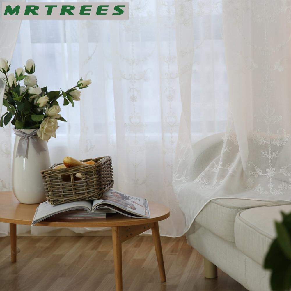 MRTREES Modern Işlemeli Sırf Perdeleri Pencere Tül Perdeleri - Ev Tekstili - Fotoğraf 5