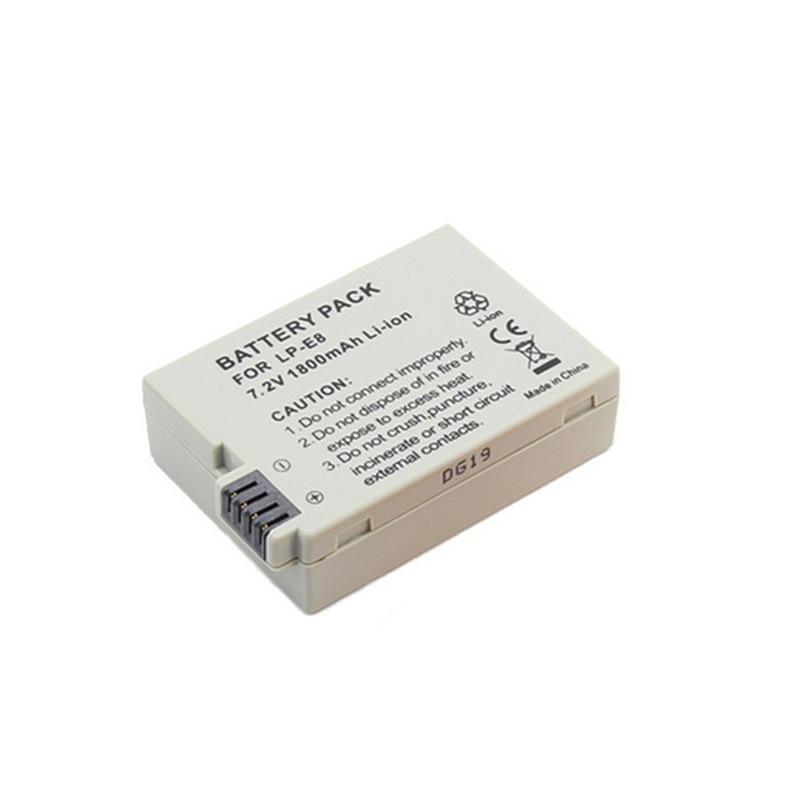 1 pièces LP-E8 Batterie Bateria LP-E8 Lp E8 Pour Canon 550D 600D 650D 700D X4 X5 X6i X7i T2i T3i T4i T5i DSLR Caméra 0.11