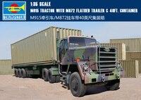 Труба 01015 1:35 Американский M915 тяги Car/M872 трейлер + 40 ноги контейнер сборка модели строительных Наборы игрушка