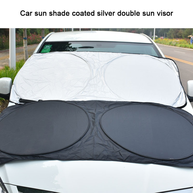 Car Sun Shade for SUV Truck Minivan Nylon Ray Reflector Windshield Sunshade  88 XR657 053a1d3f85a
