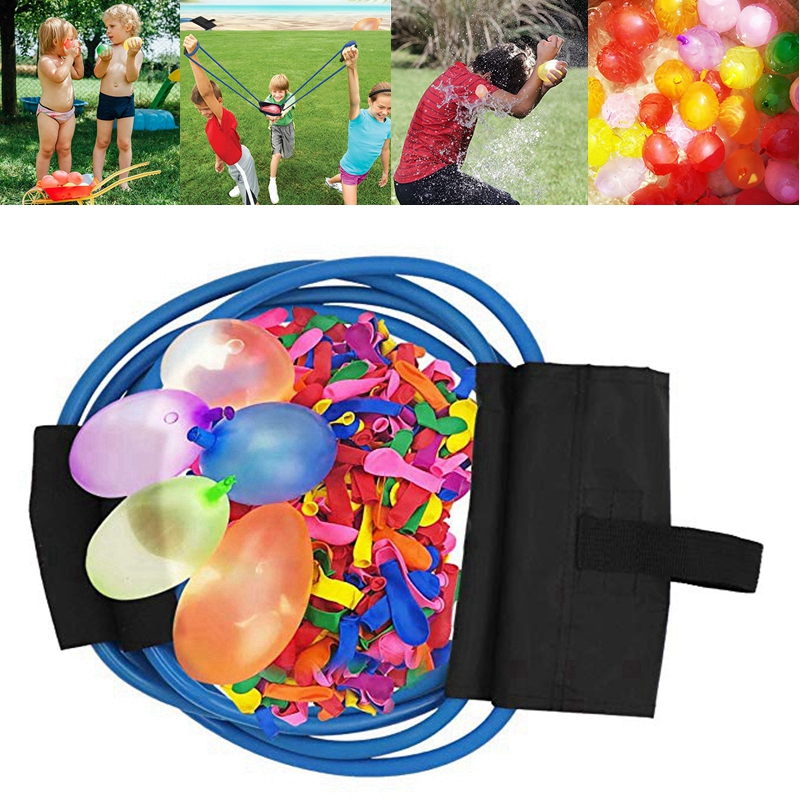 220pcs Water Balloons Magic Water Bombs Launcher Outdoor Swimming Pool Ball Toys Beach Ball Party Bombs Instant Rubber Balloons