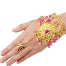 Women Accessories Bracelets Jewelry Set Indian Dance Wear Bollywood for Gold