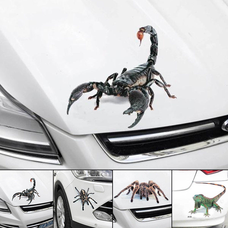 Image 3 - Spider Sticker Crawling Car Vehicle Truck Window Sticker Hood Decal 4 Pattern-in Car Stickers from Automobiles & Motorcycles