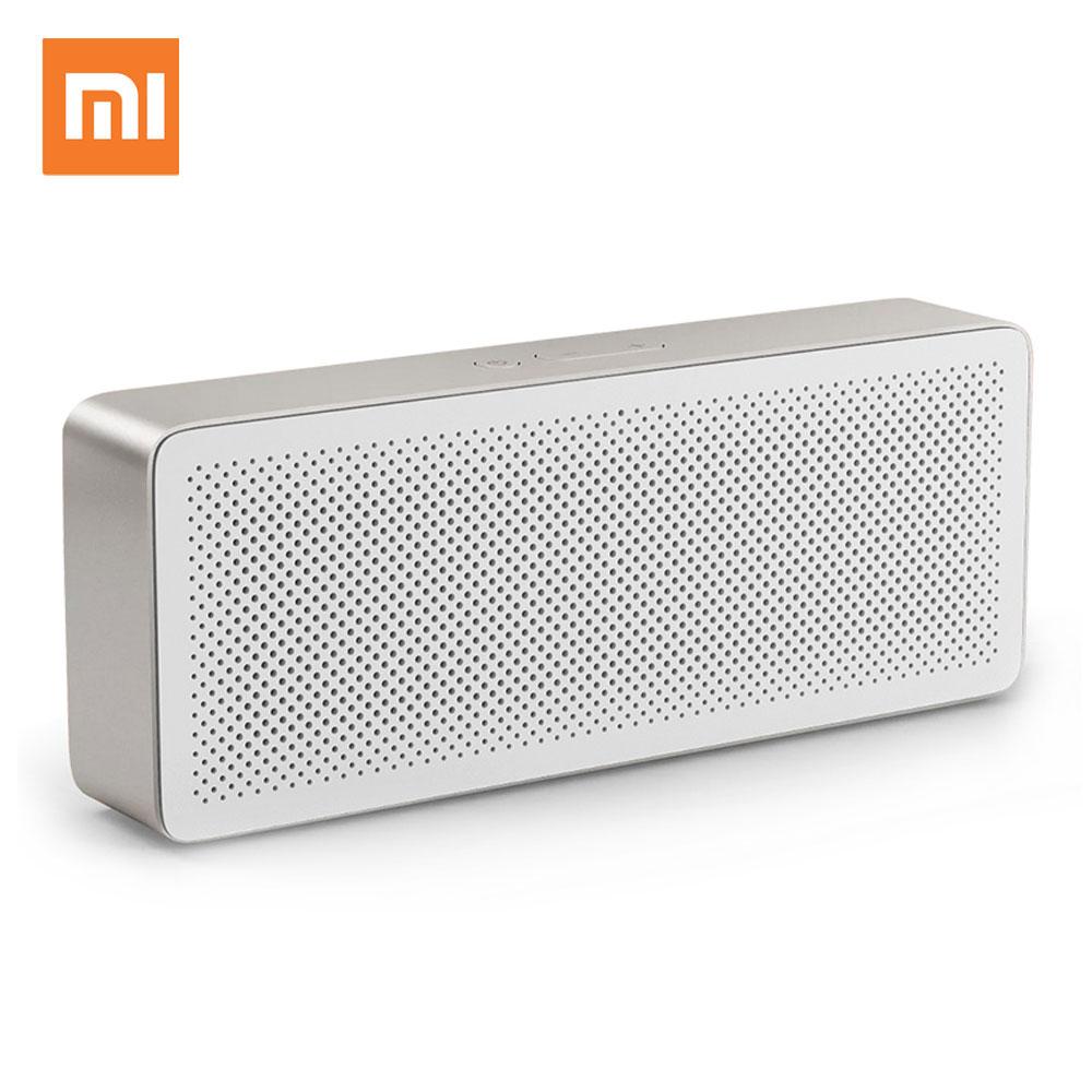 Оригинальный Xiaomi Mi Динамик квадрат 2 Беспроводной Bluetooth 4,2 стерео Портативный четкости качество звука 10 h воспроизводить музыку AUX
