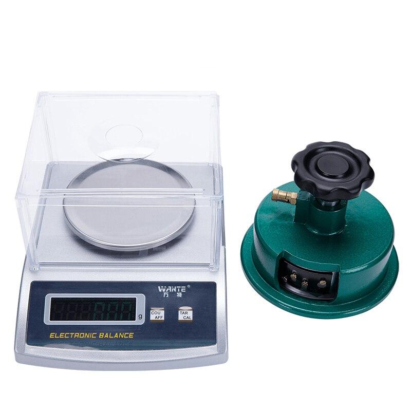 Haute-précision 0.001g charge Textile carré poids instrument Coupe-Vent Électronique balance scale avec Disque couteau d'échantillonnage