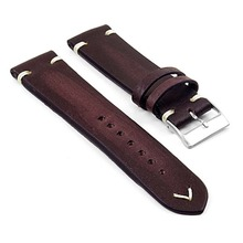 Onthelevel Handmade Strap Vintage Leather Mens Watch Band dark red w/ Minimal Hand Stitching Stainless Steel Buckle High Quality майка борцовка print bar dark seer minimal