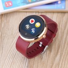 Bluetooth Runde Smart Elektronik Uhr D10 MTK2502C Herzfrequenz Musik Tragbare Geräte Zeigen Verbinden Telefon Smartwatch IOS Android