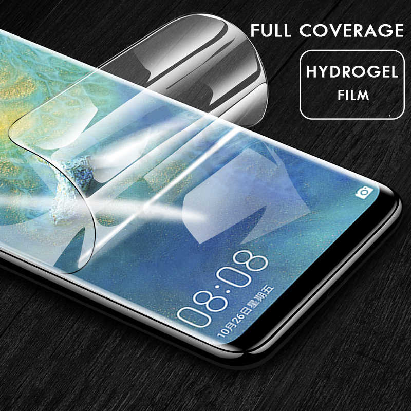 Full Soft Hydrogel Protective Film For Huawei Mate 20 Pro P30 P20 Pro Lite Screen Protector Film For Honor 8X Max 10 9 Not Glass