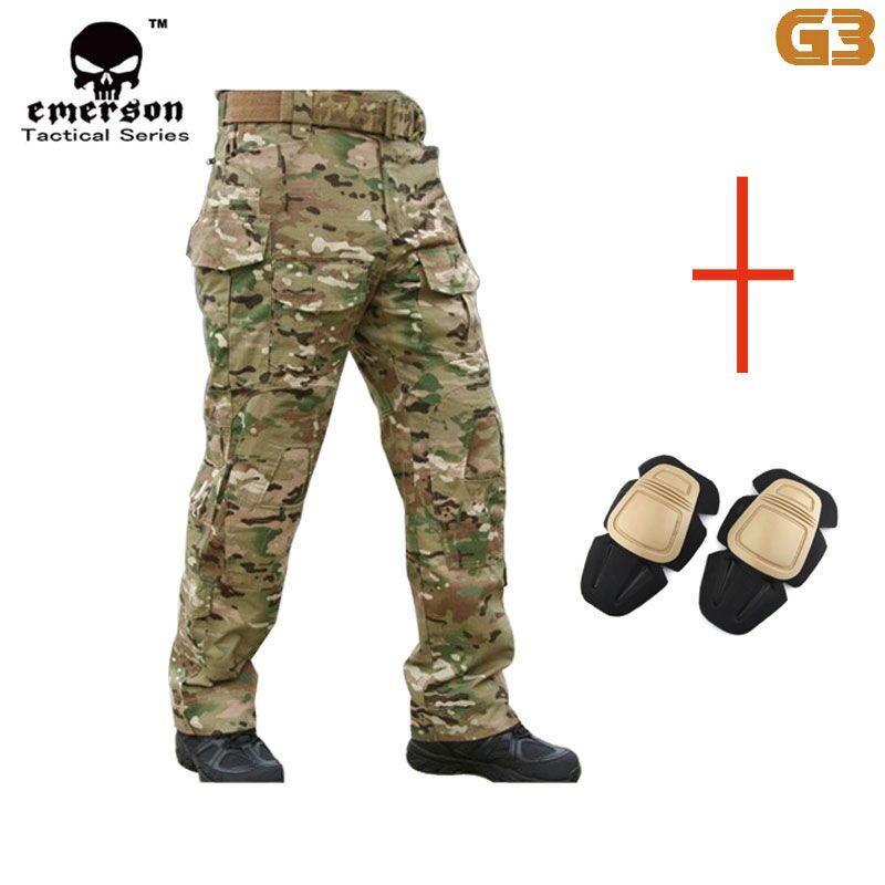 Sportswear Accessories Emersongear G3 Men Pants Multicam Trousers with Knee Pads Military Army Airsoft Cosplay Hunting EM8527 outdoor camo hiking pants men army combat hunting pants with knee pads tactical military man trousers camping pantalon hombre