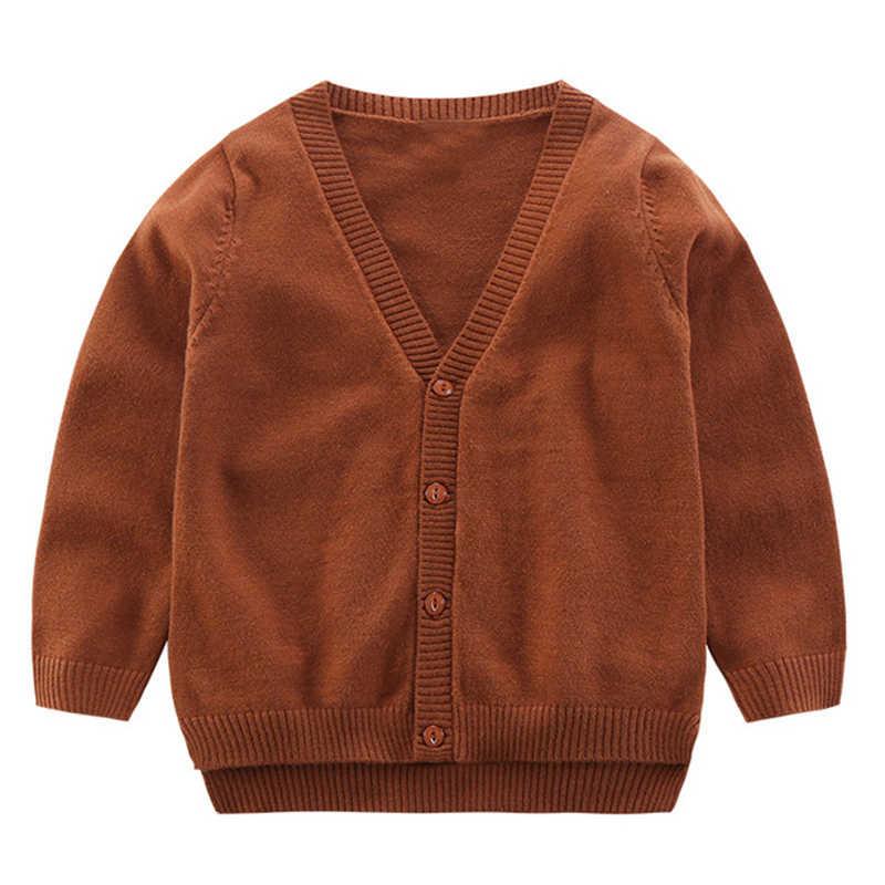 2019 herfst gebreide baby jongens trui trui top gebreide vest bovenkleding kinderen winter lange mouw mode