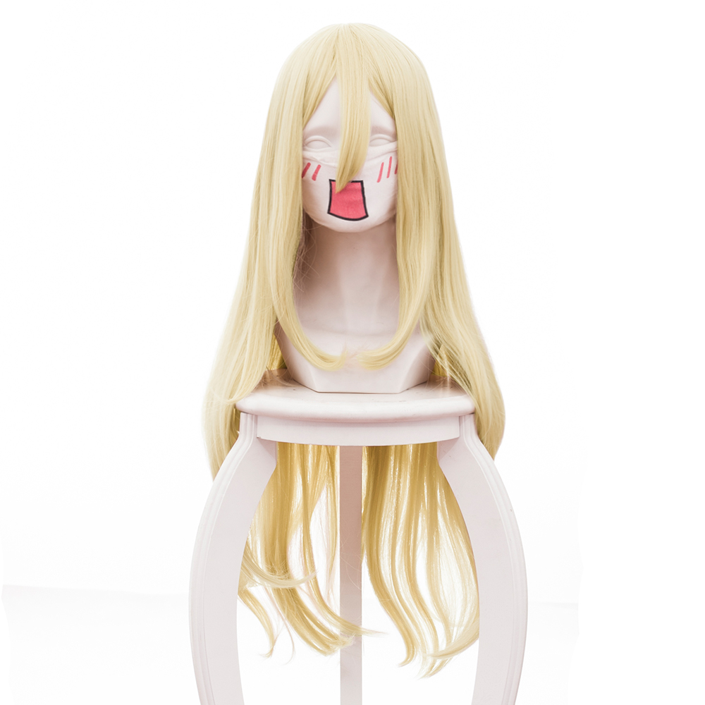 Angels of Death Ray Rachel Gardner Cosplay Wig Girls Women Long Straight Anime Costume Halloween Carnival Cosplay Wig Hair Gold