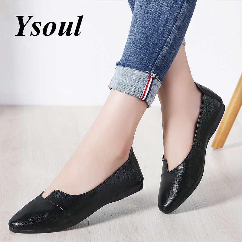 Ysoul Women Flats Shoes 2019 Spring Poin