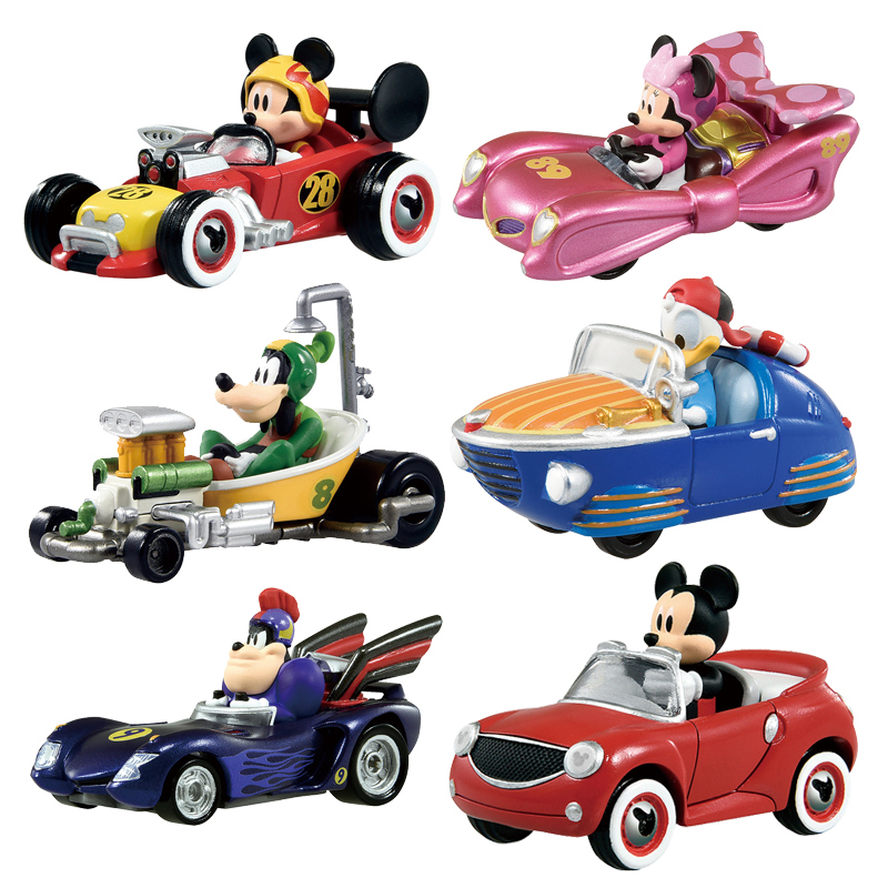 Takara Tomy voitures 1/64 Mickey Minnie moulé sous pression jouets en métal modèle voiture cadeau d'anniversaire pour enfants garçon
