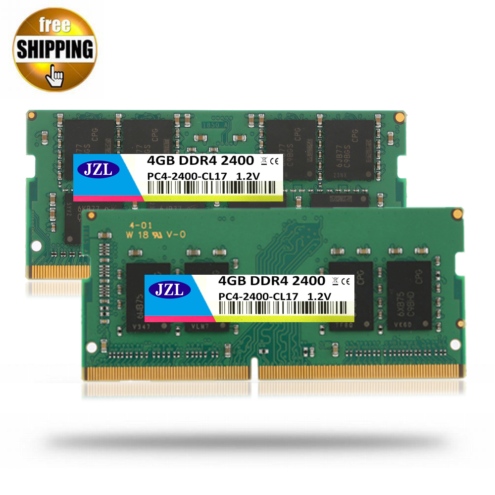 JZL Ordinateur Portable Sodimm PC4-19200 DDR4 2400 MHz 4 GB PC4 19200 DDR 4 2400 MHz LC17 1.2 V 260-PIN Module de Mémoire Ram pour Ordinateur Portable/Notebook