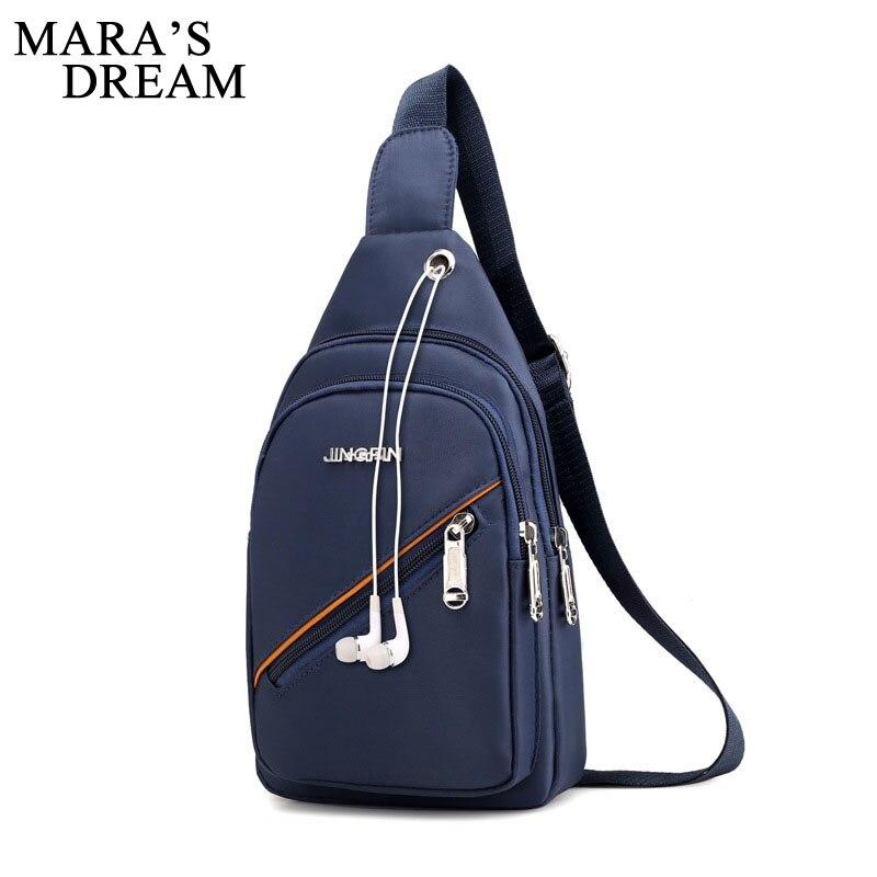 Maras Dream New Arrival Nylon Men Chest Bag Pack Single Shoulder Strap Back Bag Fashion Male Crossbody Bags Back Pack Travel