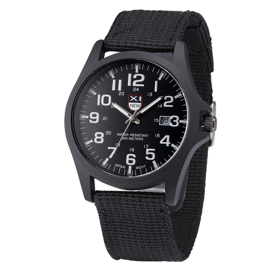 Outdoor Mens Date Stainless Steel Military Sports Digital Number Analog Quartz Army Men Wrist Watch Clock  Relogio Masculino