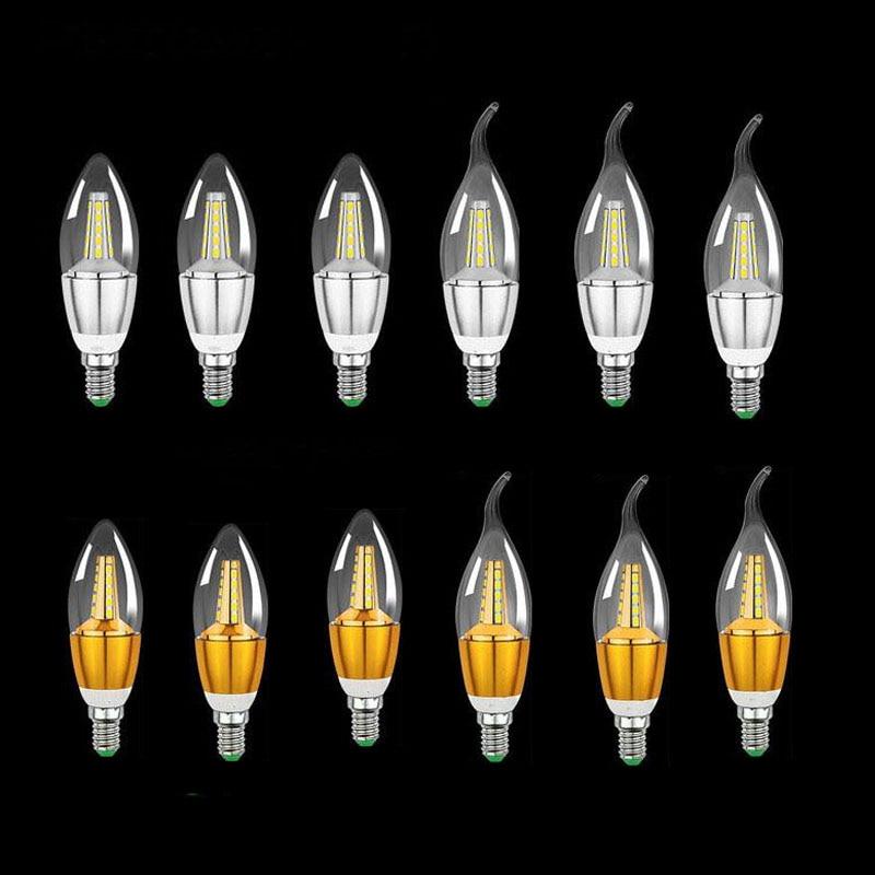 6PCS 5W AC85-265V 2835smd Led Candle Bulb E12/E14/E27 Base Led Light LED Lamps Light Chandelier Bulbs Light Oval Tail 6PCS/Lot rgb bulbs e12 e14 3w 5w led bulbs 15 colors changing candle light bulb lamp w remote control ac85 265v colorful lampada lampen