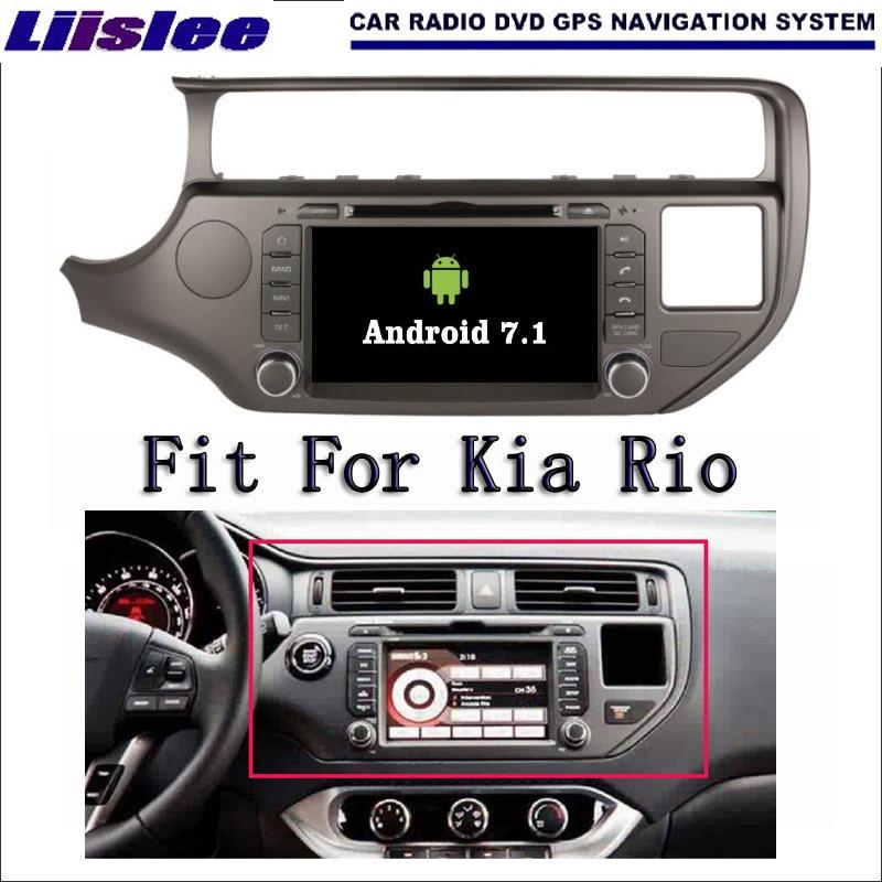 Liislee Android 7.1 2 г Оперативная память для Kia Rio 2015 ~ 2017 Радио Аудио Видео Мультимедиа dvd-плеер WI-FI DVR GPS Navi навигации