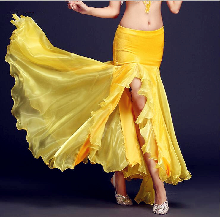 Professional Sexy Women's Belly Dance Maxi Skirt Belly