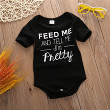 2016 Newborn Kids Baby Boy Girl Infant Cotton Short-sleeved Jumpsuit Bodysuit Clothes Outfit