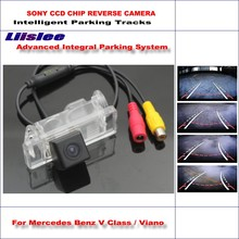 Liislee For Mercedes Benz V Class / Viano Backup Reverse / Intelligent Parking Tracks Car Rear View Camera RCA AUX HD for mercedes benz glk glk300 glk350 x204 ccd car backup parking camera intelligent tracks dynamic guidance rear view camera