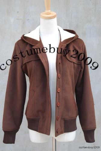 Twilight Bella Swan Cosplay costume Brown Wool Jacket Coat Winter Hoodies For Women Cosplay Costumes Custom Made