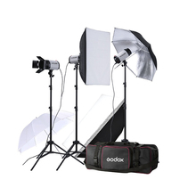 Godox Mini Pioneer 750W Studio Lighting Flash Strobe Kit Photography Light godox e300 300ws photography studio strobe photo flash light 300w studio flash